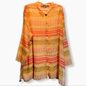 Susan graver style 3X lagenlook abstract tunic top